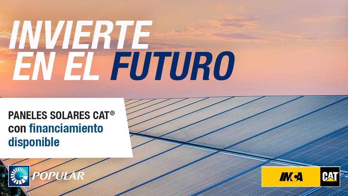 Adquiere tus Paneles Solares Cat® con financiamiento a través del Banco Popular Dominicano
